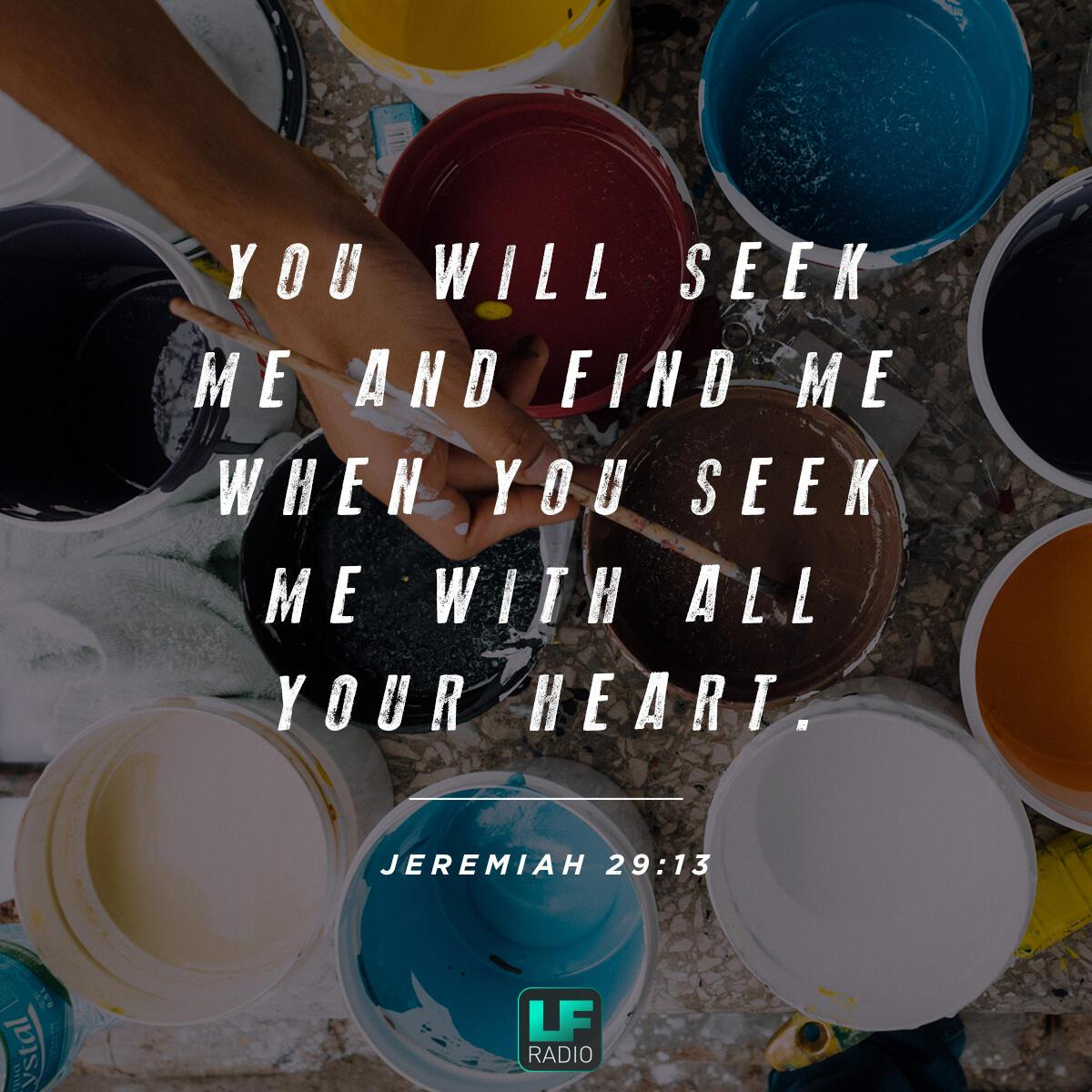 Jeremiah 29:13 - Verse of the Day