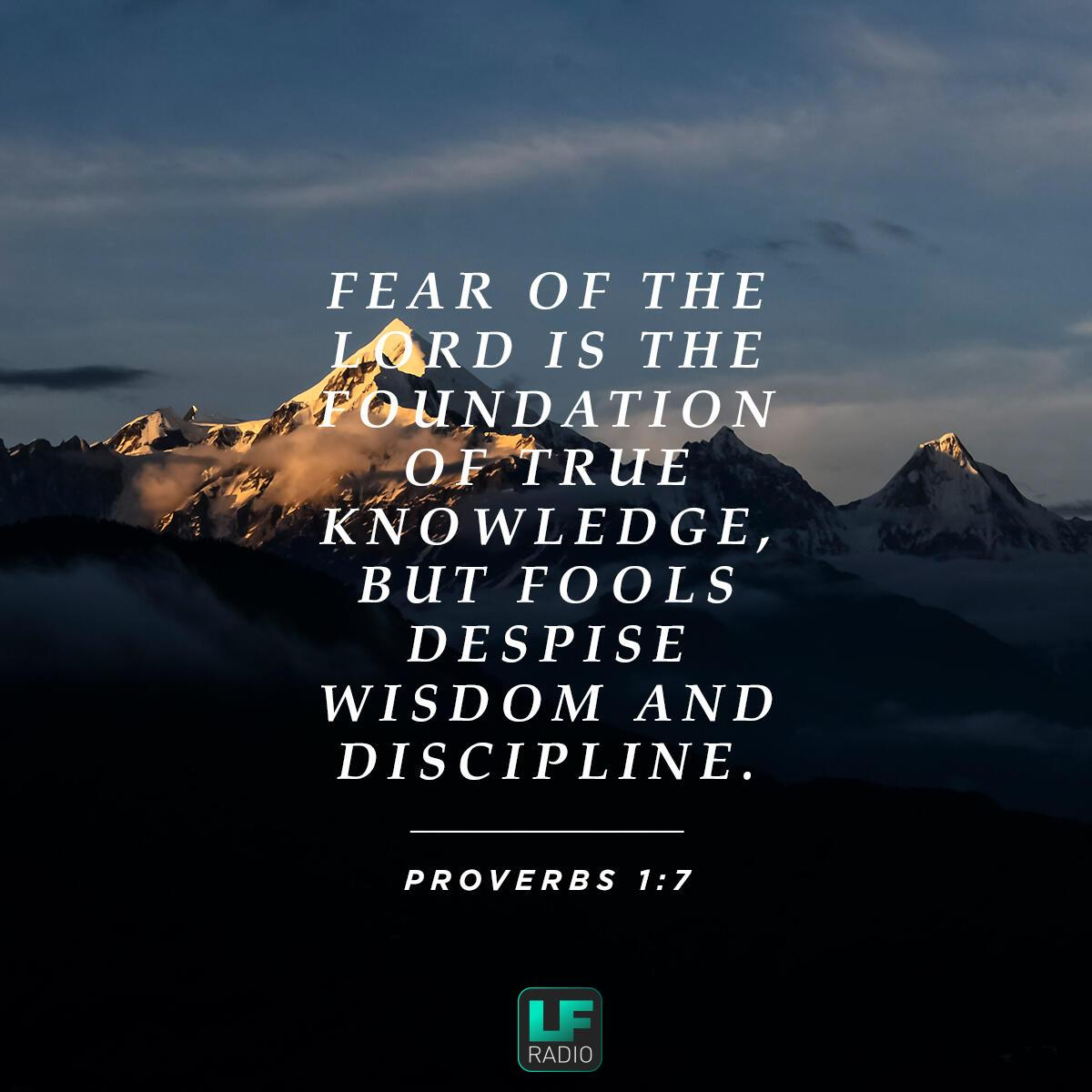 Verse of the Day - Proverbs 1:7 | LF Radio