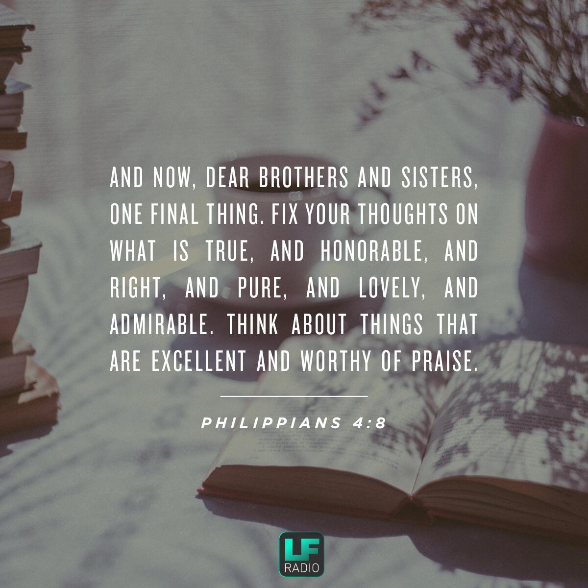 Philippians 4:8 - Verse of the Day