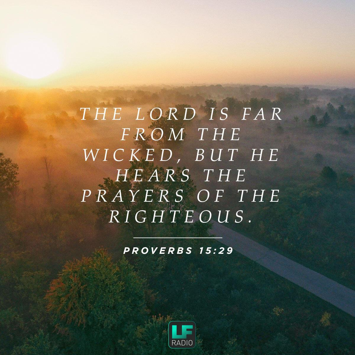 Proverbs 15:29 - Verse of the Day