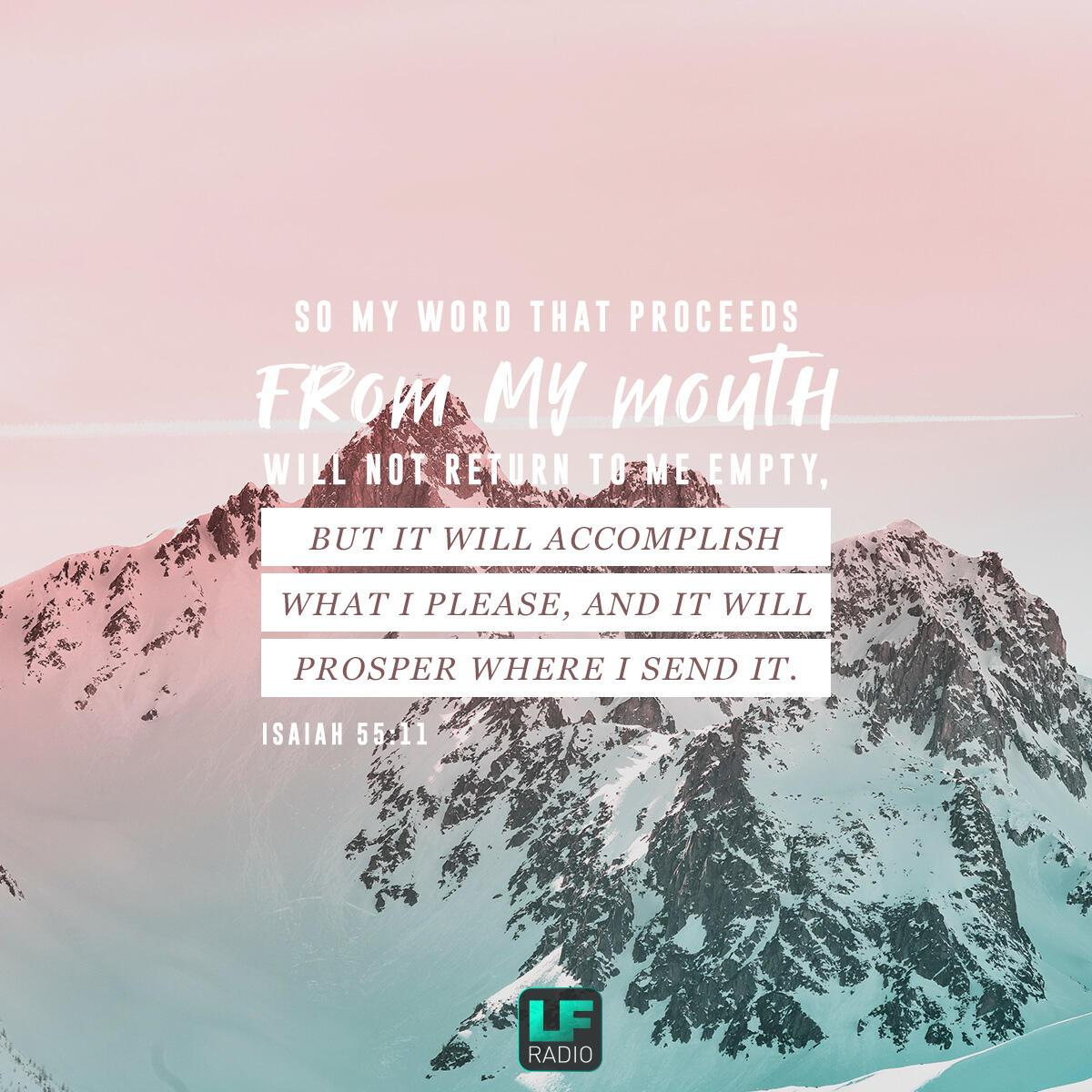 Isaiah 55:11 - Verse of the Day