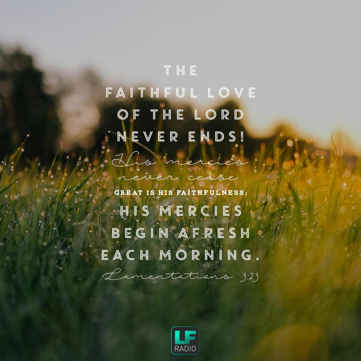 Lamentations 3:22-23 - Verse of the Day