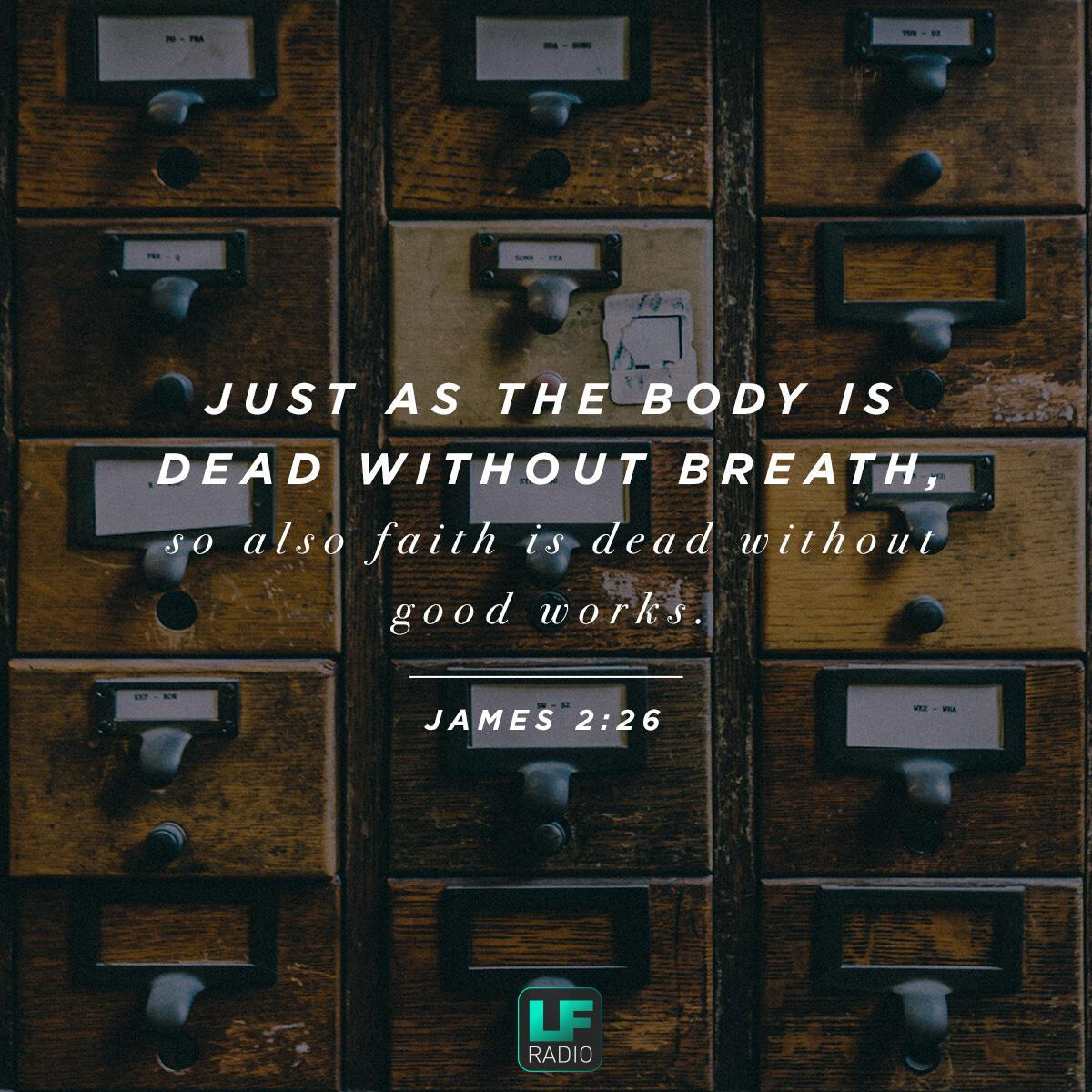 James 2:26 - Verse of the Day