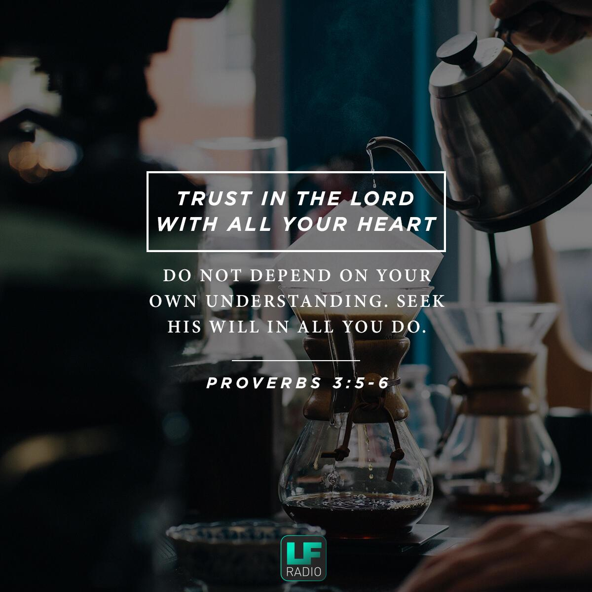 Proverbs 3:5-6 - Verse of the Day