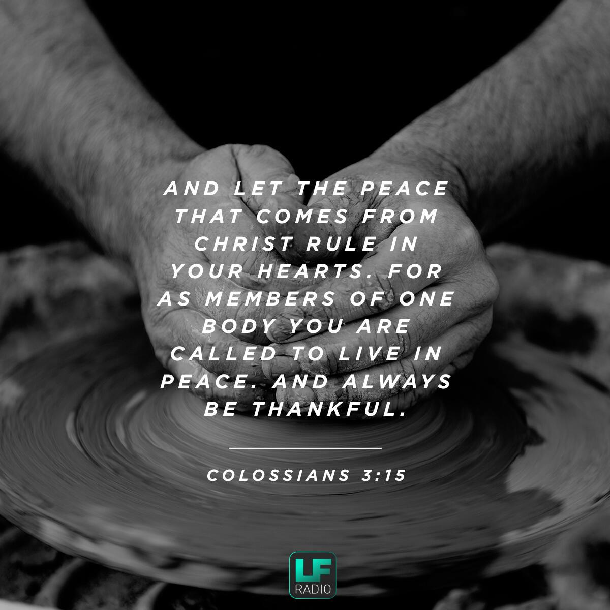 Colossians 3:15 - Verse of the Day