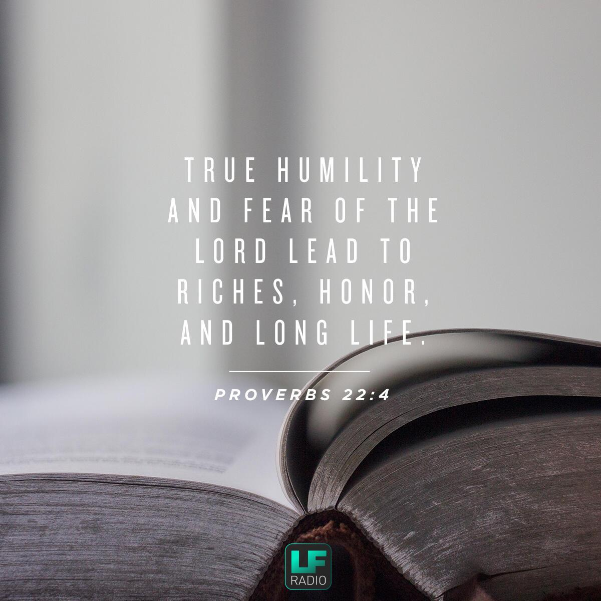 Proverbs 22:4 - Verse of the Day