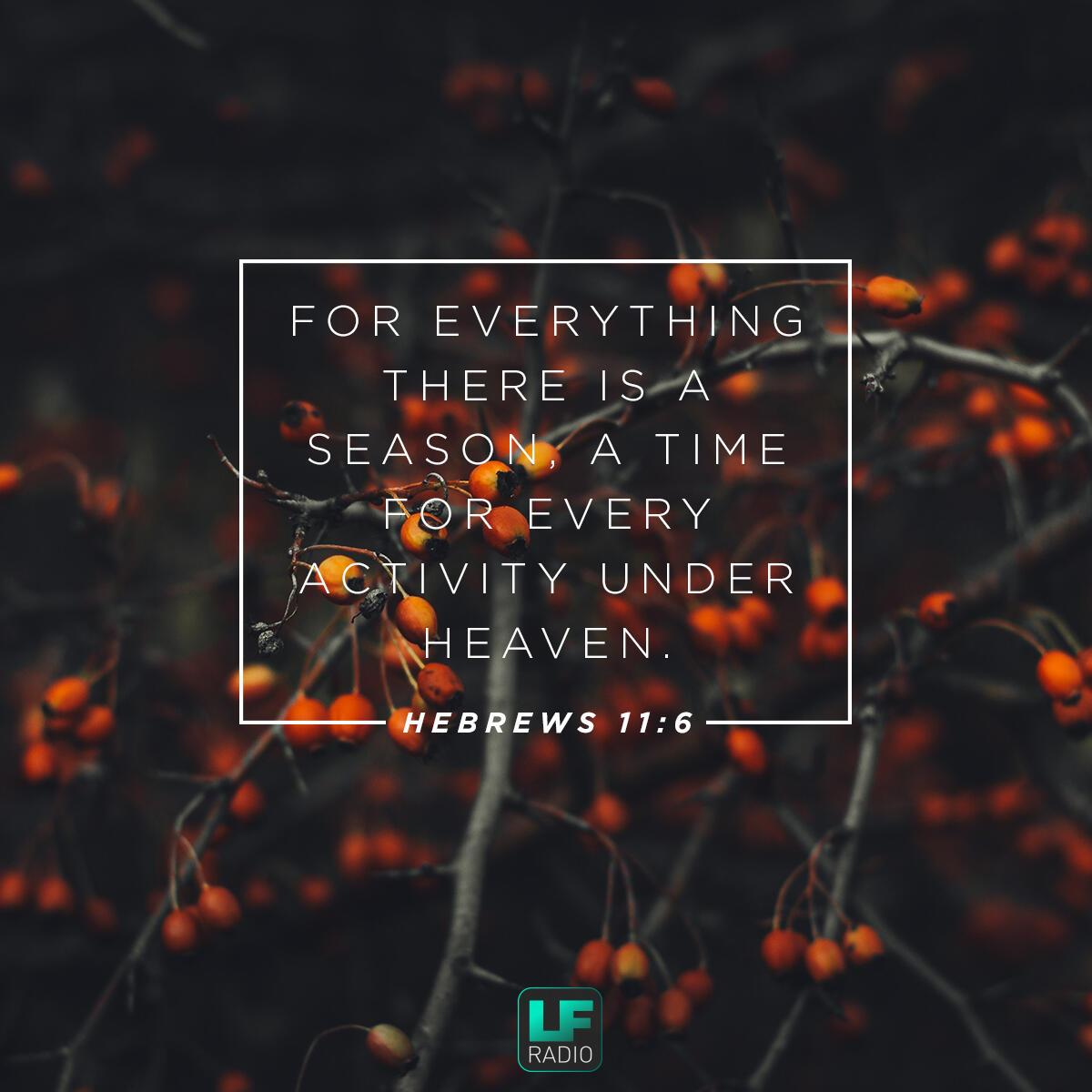 Ecclesiastes 3:1 - Verse of the Day