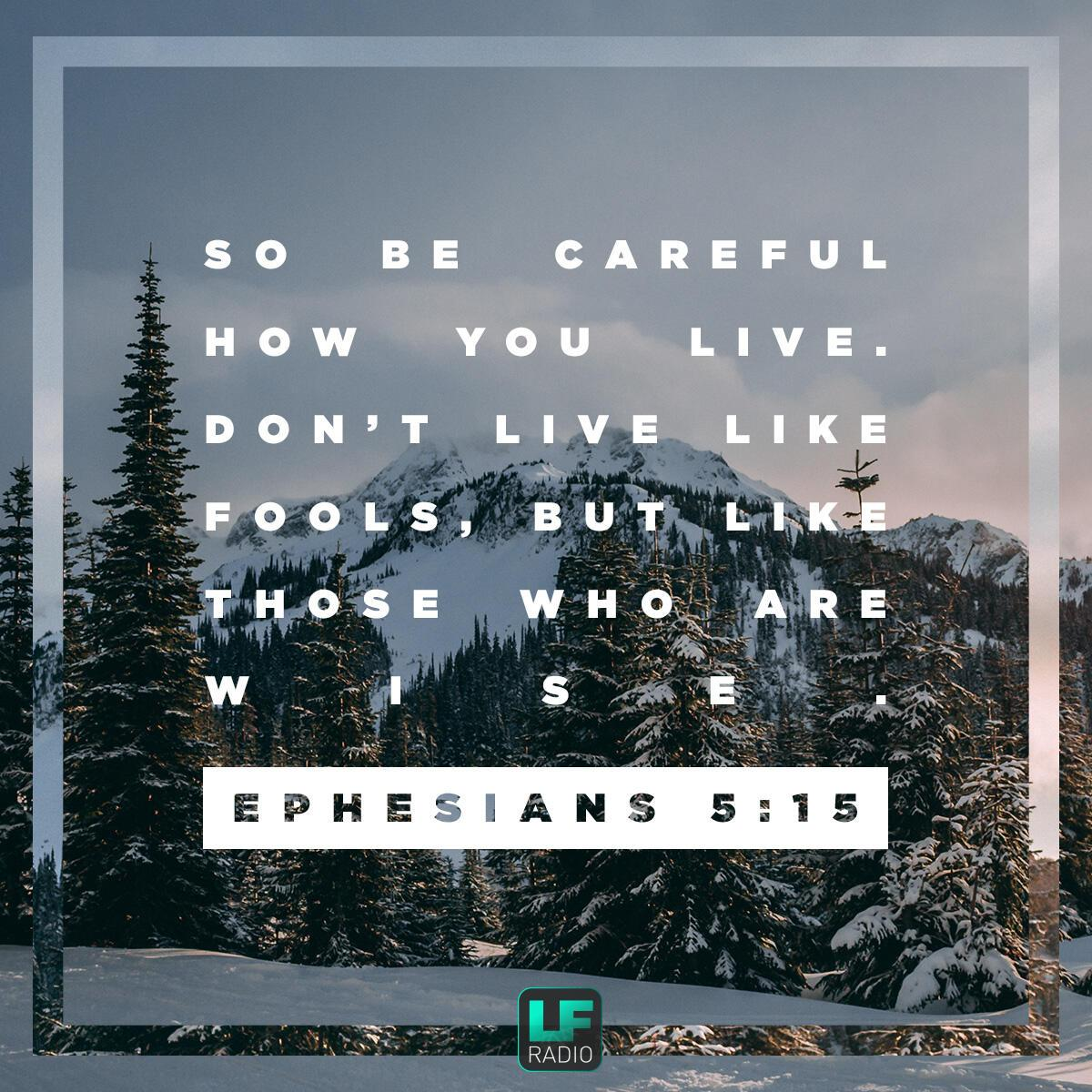 Ephesians 5:15 - Verse of the Day