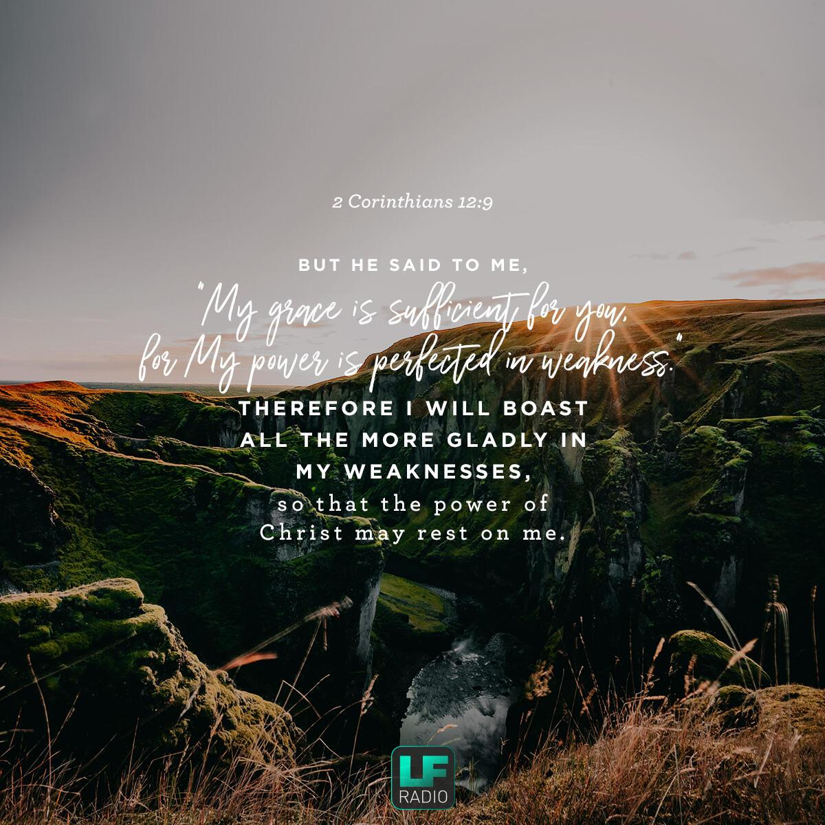 2 Corinthians 12:9 - Verse of the Day