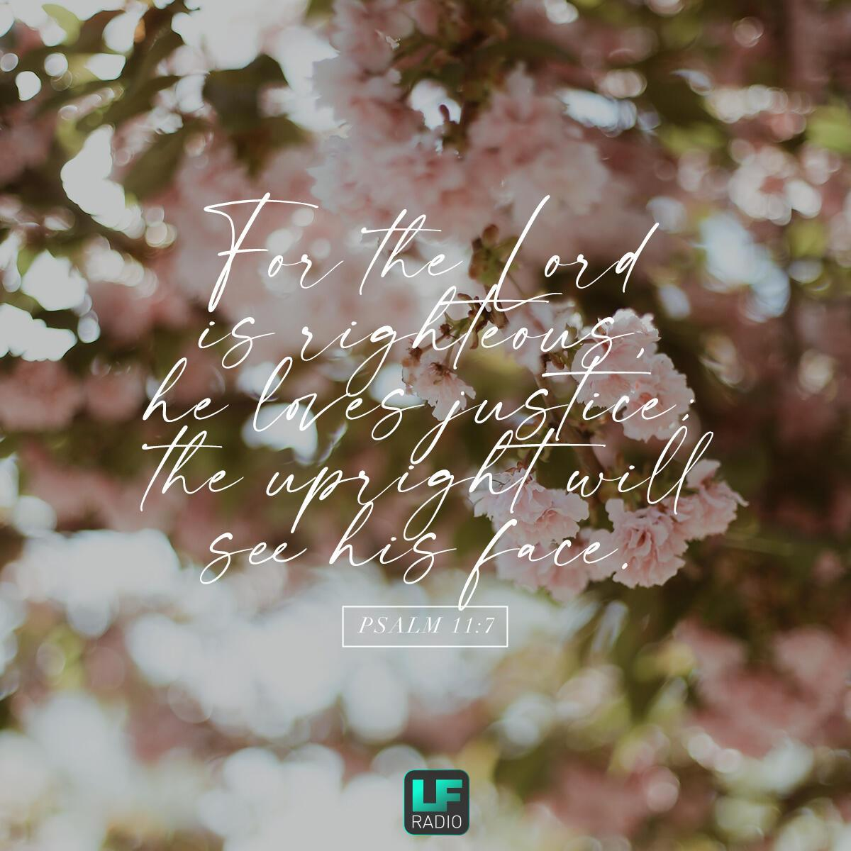 Psalm 11:7 - Verse of the Day